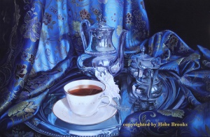 The story of 4PM Tea Time Oil 20x30