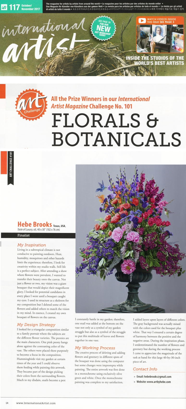 IAM floral finalist 2017